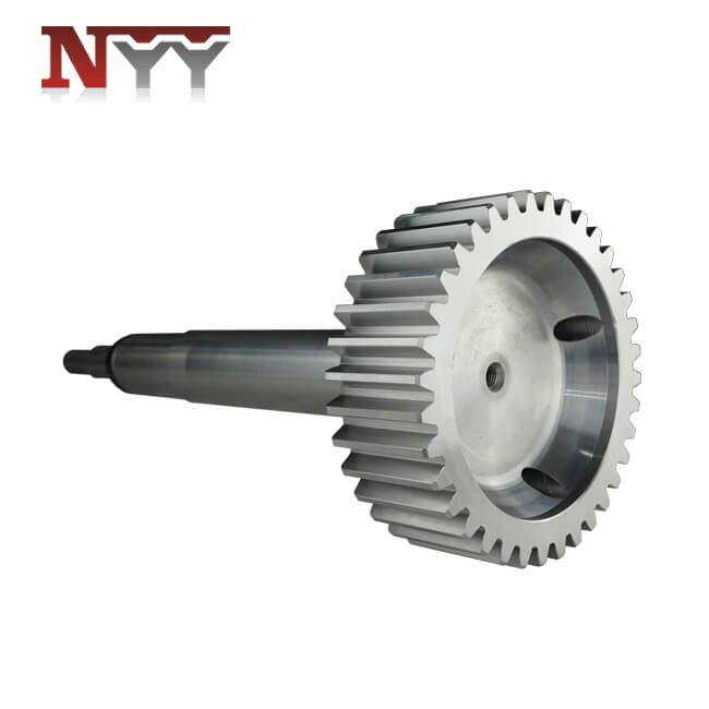 Metallurgy machinery soft tooth flank ISO grade 7 gear shaft