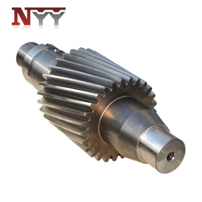 Food and feed machinery 18CrNiMo7-6 tooth grinding gear shaft