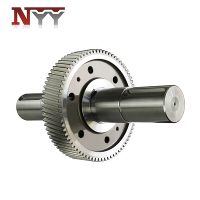 Mining machinery gear and gear shaft hot fit assembly