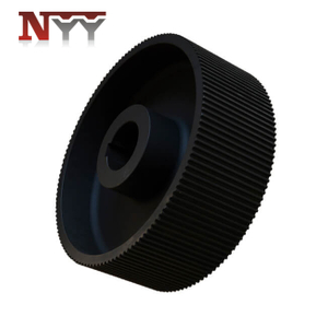 Food machinery pulley with black oxide