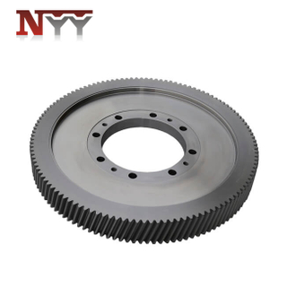 Feed and biofuel machinery 17CrNiMo6 alloy steel M5 DIN class 6 big helical gear
