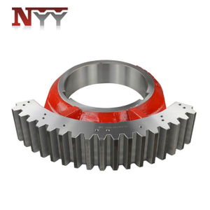 Metallurgy machinery soft tooth flank modification tooth grinding casting fan shaped gear
