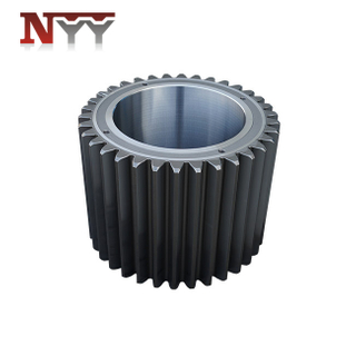 High speed train locomotive hard tooth flank spur gear